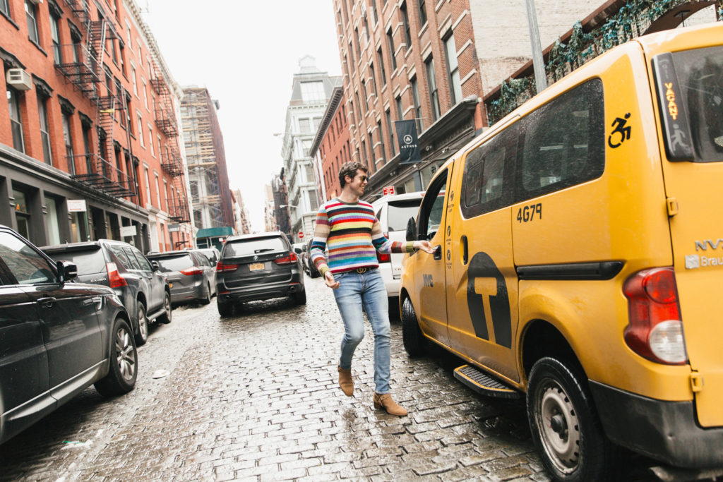 Stripes Running to the Door
