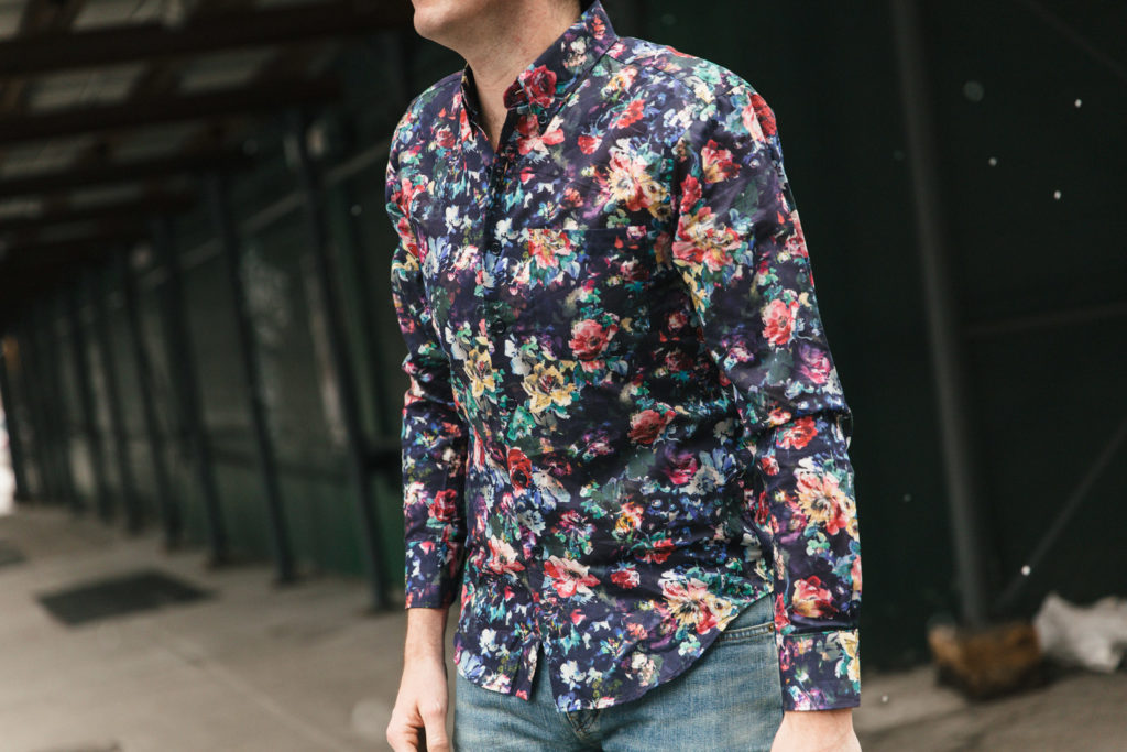 Floral Shirt Close Up