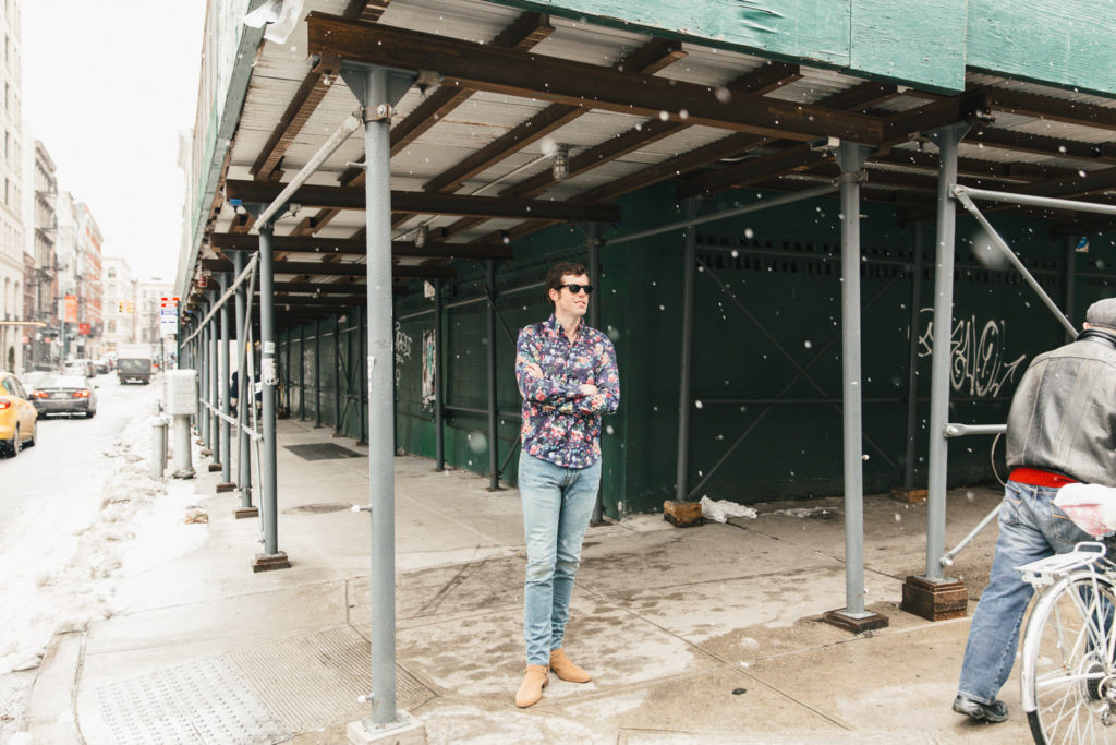 Floral Shirt Looking to Left