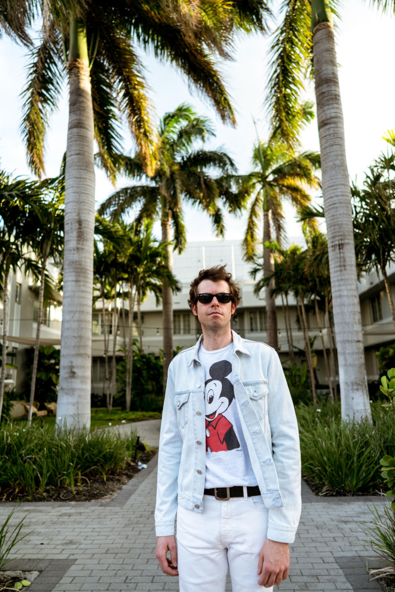 Mickey Mouse T Light Acne Jacket White YSL Pants 1
