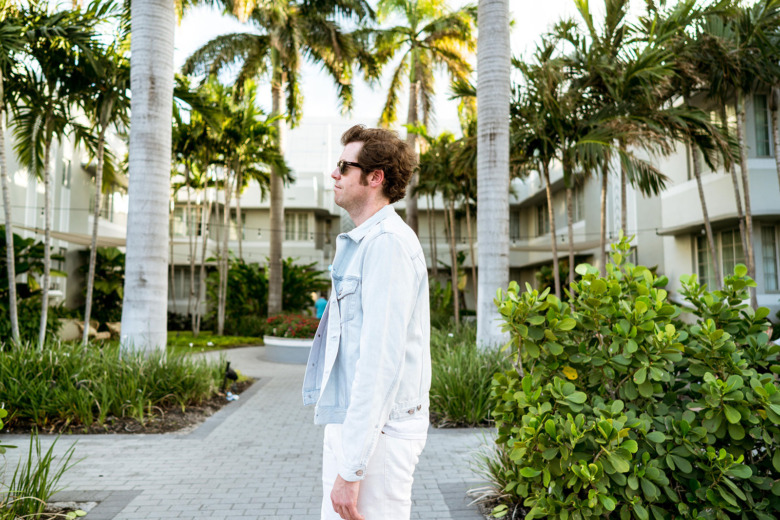 Mickey Mouse T Light Acne Jacket White YSL Pants 3
