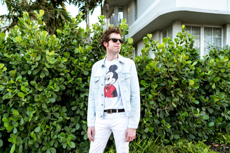 Mickey Mouse T Light Acne Jacket White YSL Pants 4